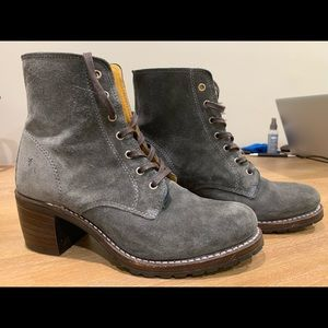 NWOT Frye Suede Boots Gray